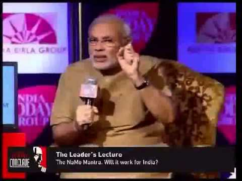 Narendra Modi Inspires youth to do hard work