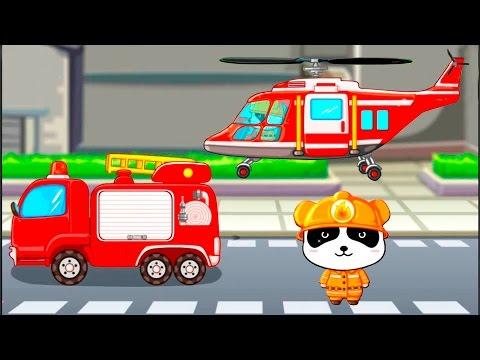 Развивающие мультики для детей от 3 лет. Пожарный Панда и его важная работа.