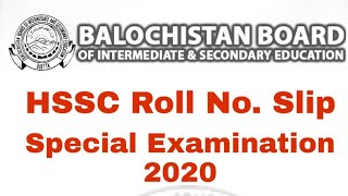 How to download HSSC roll number slip special Examination 2020