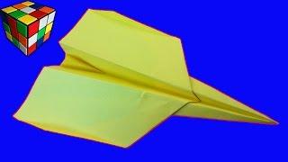 Самолет из бумаги. Как сделать самолет оригами своими руками. Поделки из бумаги.(Учимся рукоделию! Самолет из бумаги. Видео научит вас как сделать самолёт оригами из бумаги своими руками!..., 2016-09-06T15:00:01.000Z)