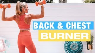 CHEST & BACK BURNER - 10-minute BUST BOOST | Rebecca Louise
