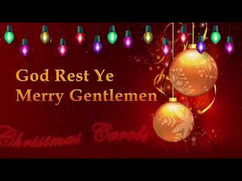 Christmas music God rest ye merry gentlemen Christmas carol with lyrics - YouTube