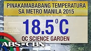Metro Manila temperature drops to to 18.5