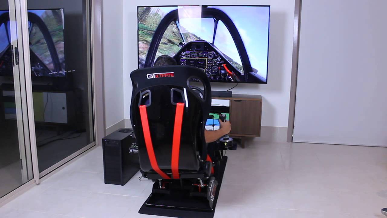 flight simulator chair motion kingsley bate amalfi club cockpit next level with platform running dcs world youtube