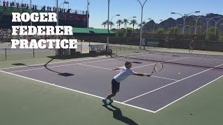 ROGER FEDERER & ALEX ZVEREV • FLYING ON THE PRACTICE COURT