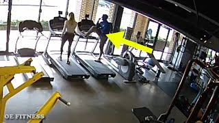 HE TRIES TO GET HER NUMBER BUT THEN THIS HAPPENED - GYM IDIOTS