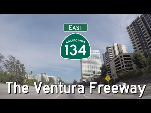 CA 134 East - The Ventura Freeway - Los Angeles to Pasadena - Exits 01 to 13