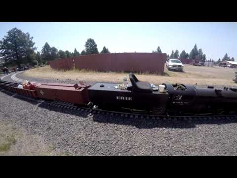 Train Mountain Triennial 2015- Ride Behind Larry Anderson's 2-8-8-8-2 Triplex Steam Engine
