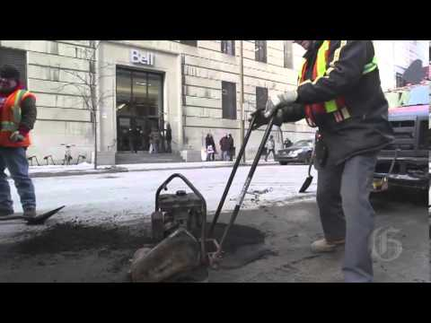 Filling Montreal's potholes - how it's done