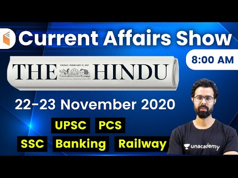 8:00 AM - Daily Current Affairs 2020 by Bhunesh Sharma | 22-23 November 2020 | wifistudy