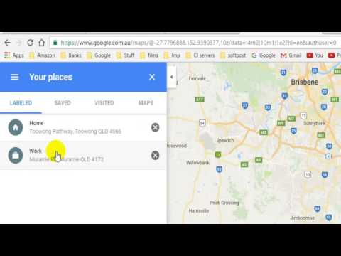 How to change home and work address in Google maps