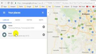 How to change home and work address in Google maps Free HD Video