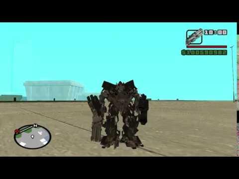 Transformers mod gta sa ( Ratchet, Ironhide and Jazz )