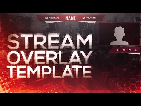 FREE Twitch/Youtube Stream Overlay Template 2016