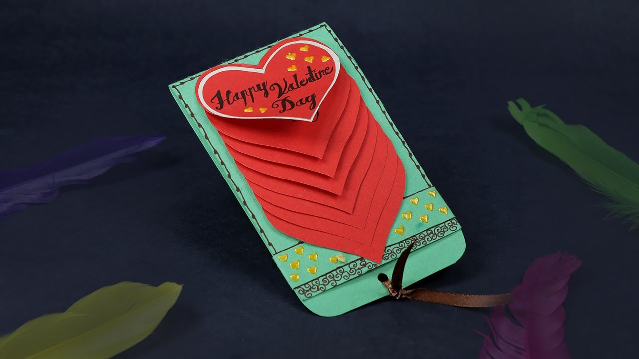 Handmade Valentine Cards DIY Waterfall Card Tutorial YouTube – Photos of Valentine Cards