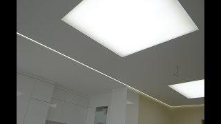 Натяжной потолок с подсветкой своими руками ! Монтаж светодиодных натяжных потолков видеоурок видео