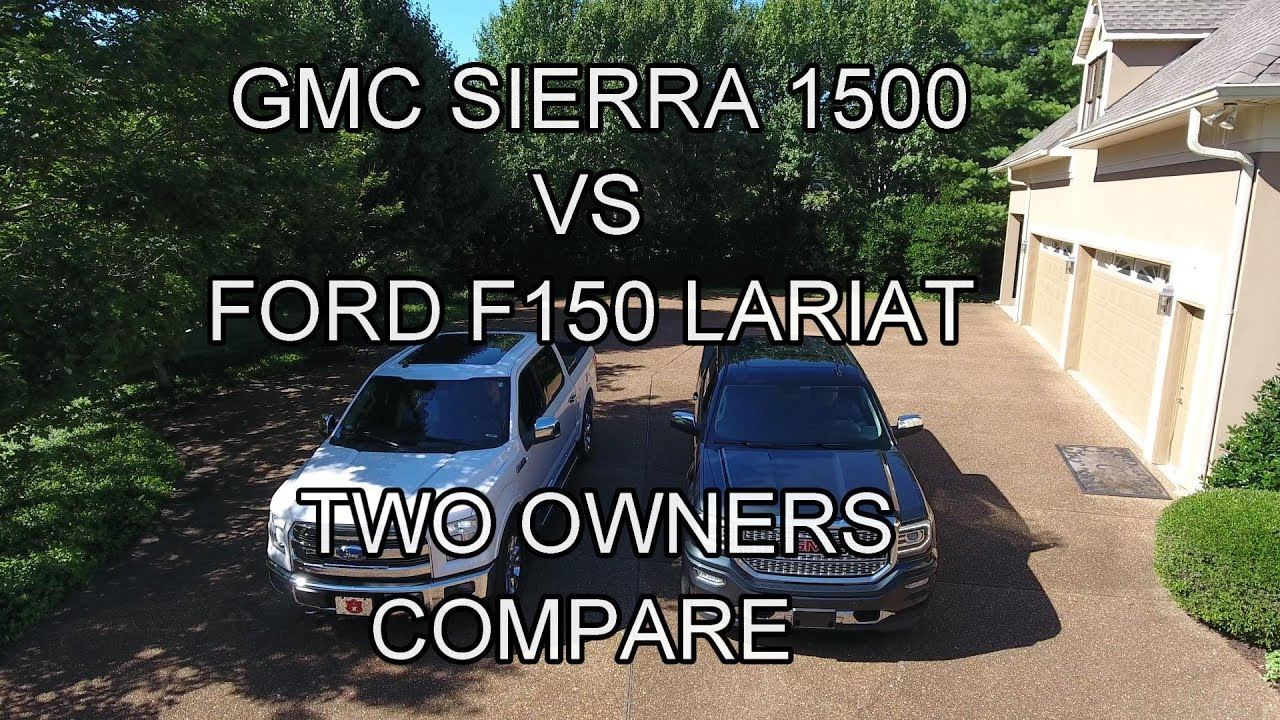 gmc sierra 1500 vs ford f150 lariat two owners compare youtube. Black Bedroom Furniture Sets. Home Design Ideas