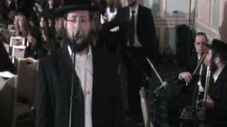 Shragy Gestetner Singing at a Chupah