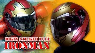 Personalised Iron Man Helmet Vinyl Decal Sticker Great for DIY Water Bottles