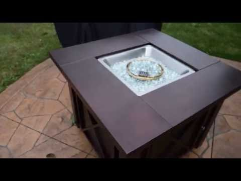 XtremepowerUS Out door Patio Heaters LPG Propane Fire Pit Hammered Bronze Steel Finish