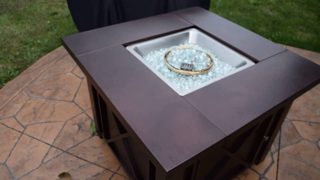 Xtremepowerus Out Door Patio Heaters Lpg Propane Fire Pit Hammered