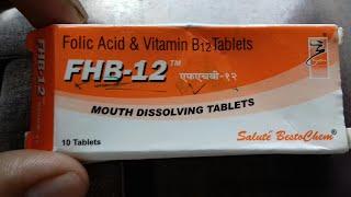 FHB - 12 tablet ( शरीर में खून की कमी और प्रोटीन की कमी को जल्दी से पूरा करे ) Use Full Hindi Review