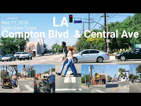 May 11, 2020 [4K] Driving On Compton Blvd  & Central Ave  In Los Angeles. Dash Cam Tours