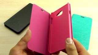 ОБЗОР: Стильный Кожаный Чехол-Книжка для Samsung Galaxy A7 (A710) 2016 года с Функцией Подставки