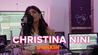 Christina Nini Performs At The Dunkin Latte Lounge