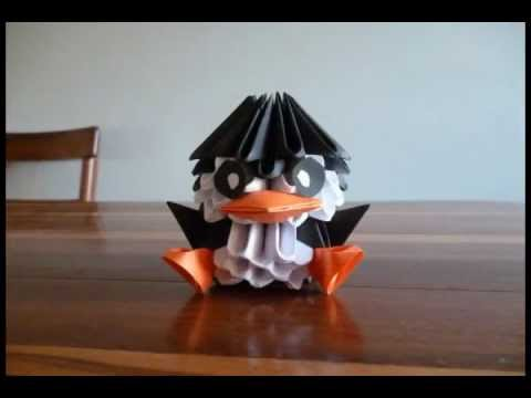 Pinguino Origami 3D - YouTube - photo#39