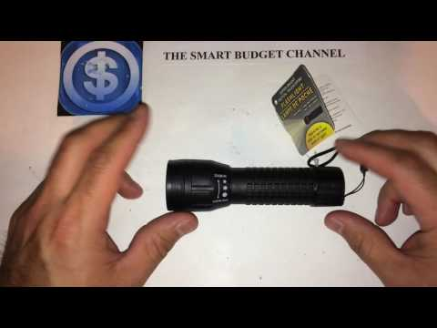 Super Bright Tactical Telescoping Flashlight Review (Dollar Tree Item 🌲)