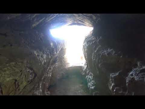 Exploring a cliffside cave of Barton Creek Preserve. (long version)