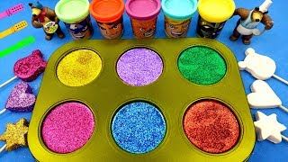 Learn Colors with Play Doh Ice Cream Glitter Cups Surprise Toys PAW Patrol Kinder Surprise Eggs
