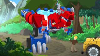 Transformers Rescue Bots Optimus Prime vs Quarry