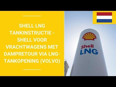 Shell LNG tankinstructie - Shell Voor vrachtwagens met dampretour via LNG-tankopening (Volvo)