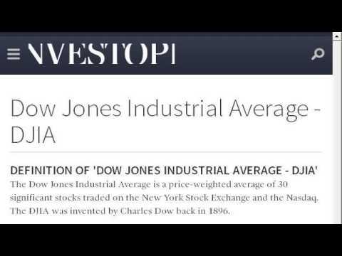 Define Dow Jones Industrial Average