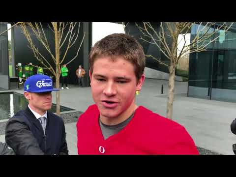 Watch: Oregon Ducks Justin Herbert, Tony Brooks-James on leadership, improving before first spring practice