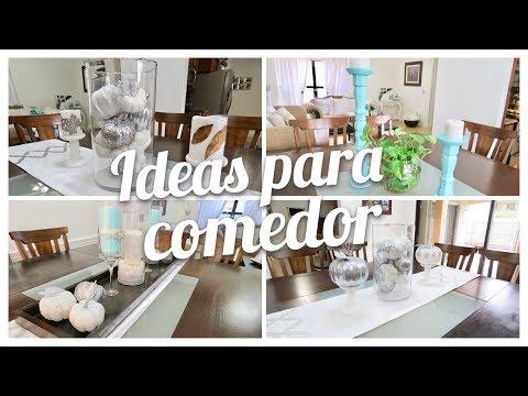 3 IDEAS PARA DECORAR TU COMEDOR //  DINING ROOM DECORATING IDEAS // OTOÑO 2018