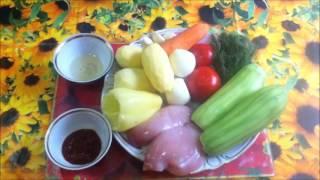 Диетическое овощное рагу с курицей.http://okaybeauty.ru/