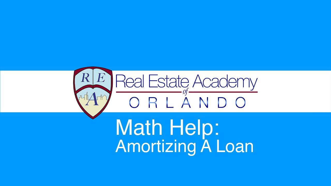 amortizing a loan