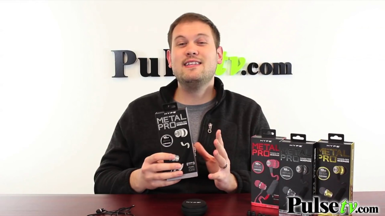 26700c583c6 Red and Black Metal Pro Earbuds Kit by Hype by PulseTV Deal