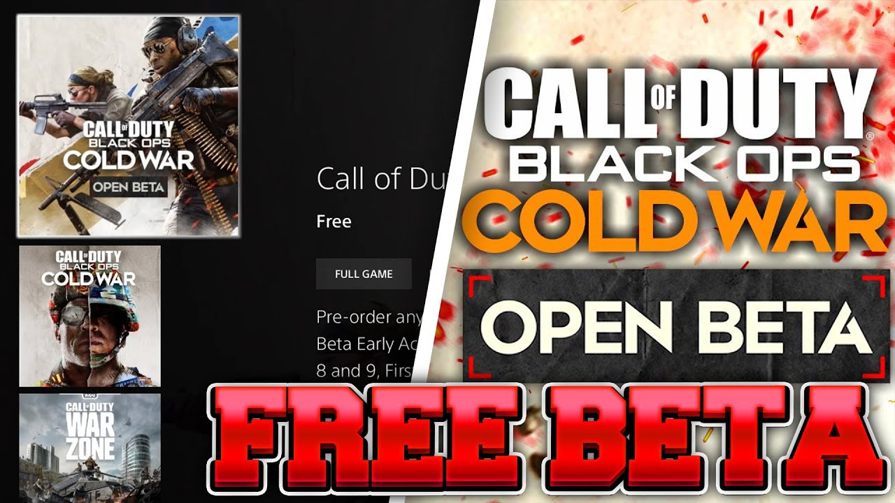 How To Download The Call Of Duty Cold War Open Beta For Free On Ps4 Xbox Youtube