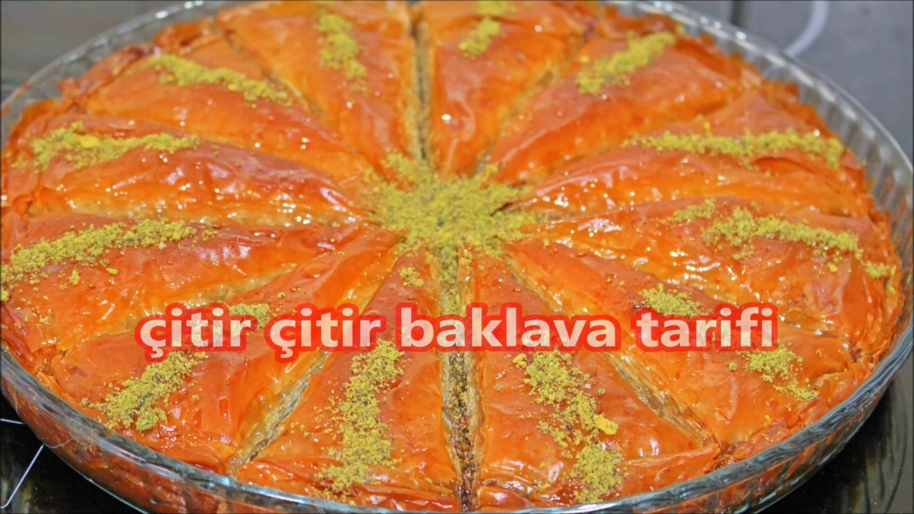 Portakallı Baklava Yapılışı