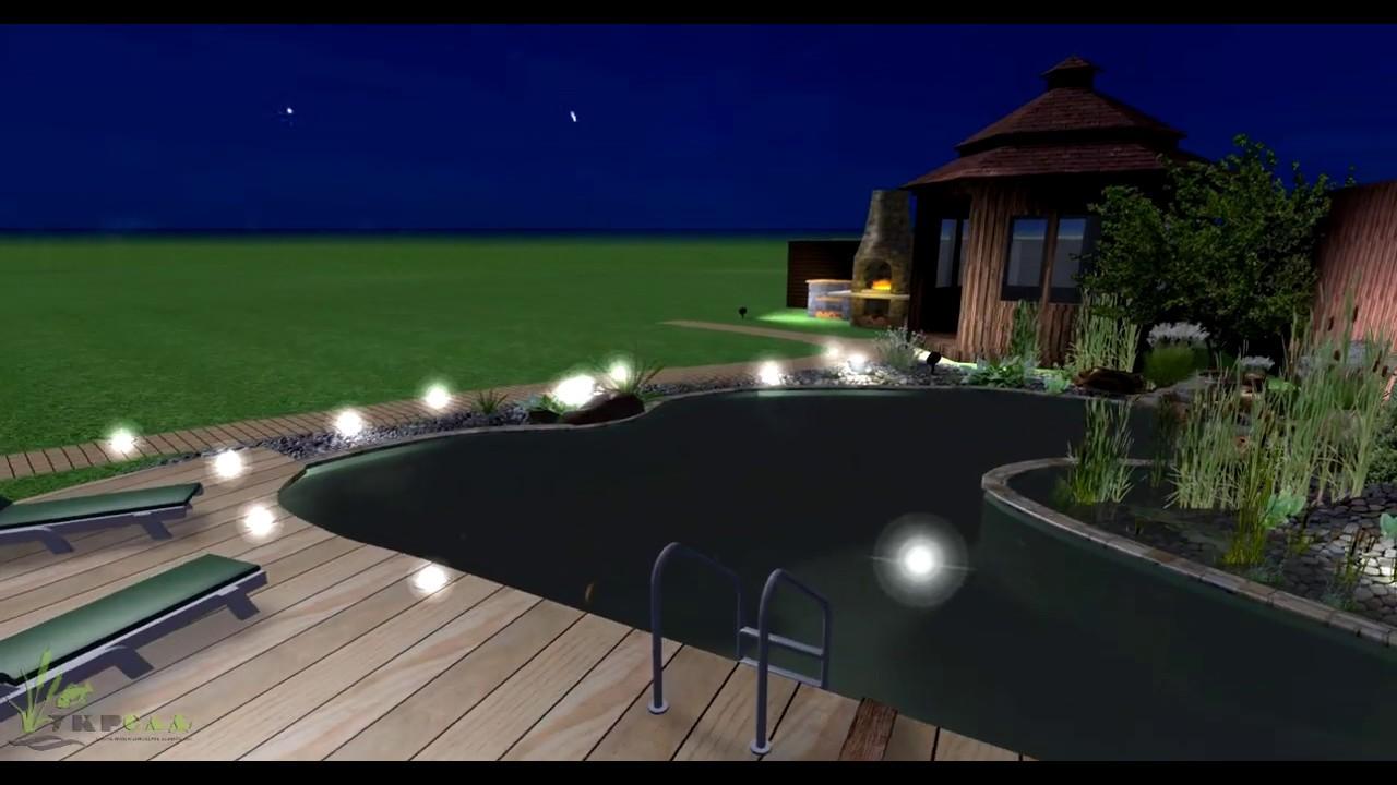 Проект небольшого декоративного пруда на дачном участке с ...