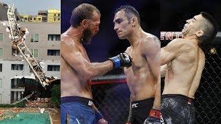Боец UFC получил три перелома челюсти, на дом бойца UFC упал кран, Серроне о реванше с Фергюсоном