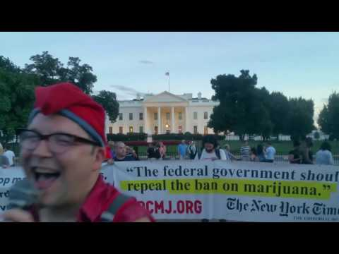 #ToneDeafKaraoke @Whitehouse Maryjane in protest against tonedeaf intellectually dishonest DEA POTUS