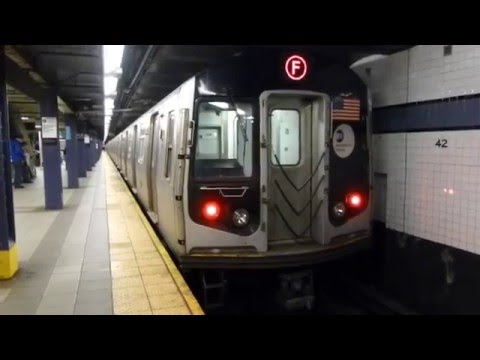 FASTRACK IND 8th Ave Line: R160A-2 F Train at 42nd St-Port Authority Bus Terminal