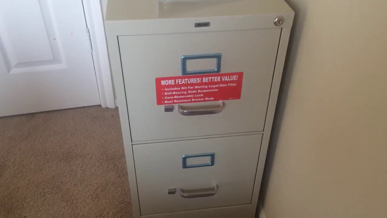 How to Open a File Cabinet Drawer - YouTube