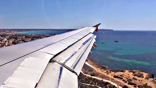 Air Berlin Airbus A321 SEASIDE APPROACH and LANDING at Palma de Mallorca Airport