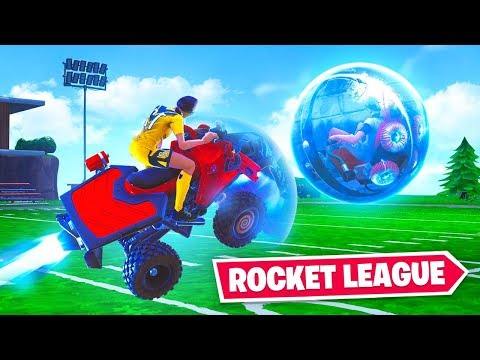 ROCKET LEAGUE in FORTNITE! ft. Lazarbeam, NoahJ456 & AlexAce thumbnail